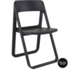 004 dream folding chair black front side
