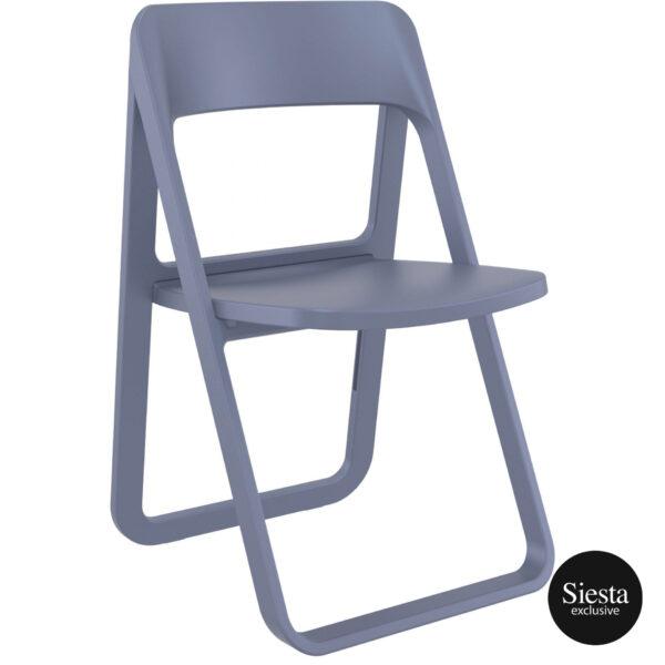 009 dream folding chair darkgrey front side