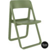 014 dream folding chair olive green front side