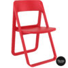 019 dream folding chair red front side