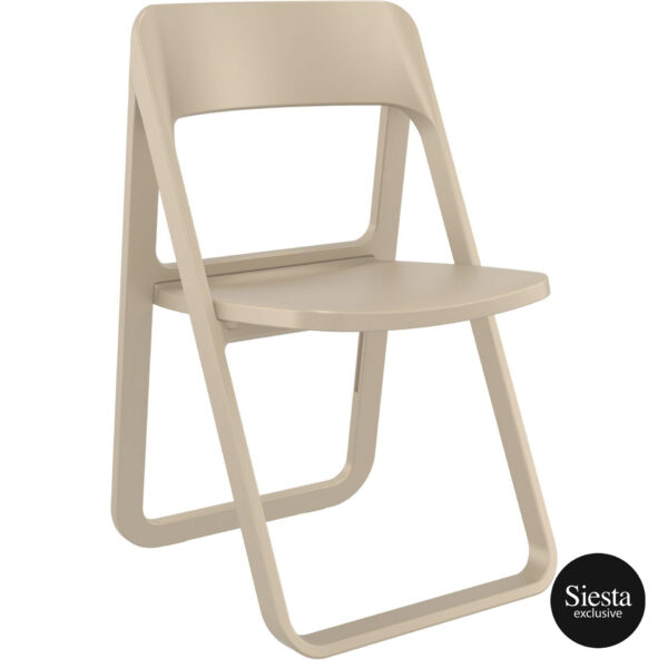 024 dream folding chair taupe front side