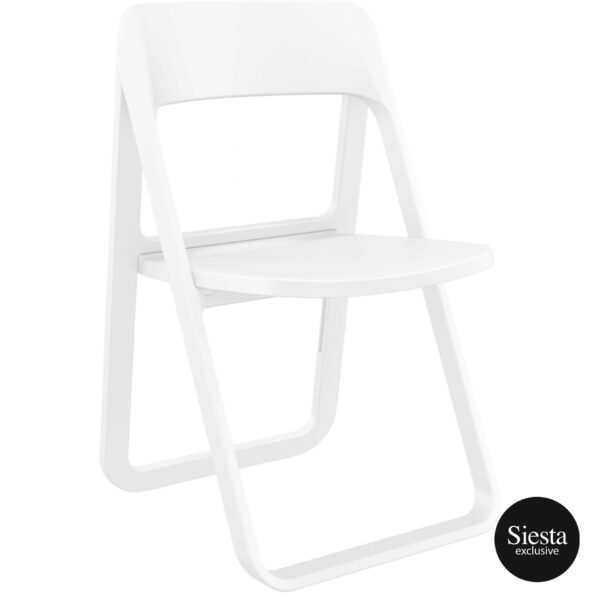 029 dream folding chair white front side