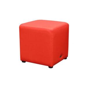 Cube Ottoman Red Lo