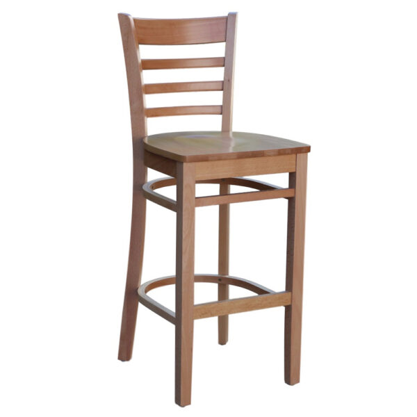 Florence Barstool Timber Seat Natural Stain