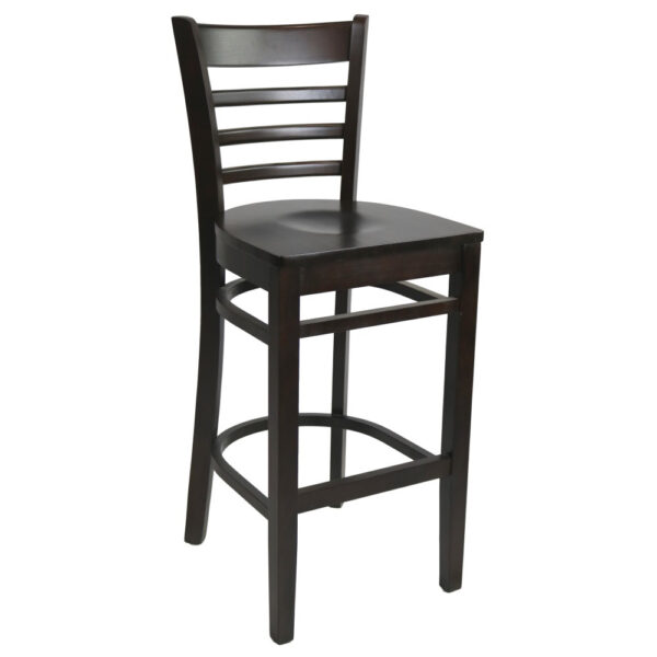Kit A B Florence Barstool Chocolate Timber Seat