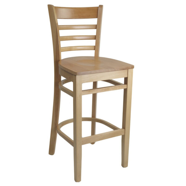 Kit A B Florence Barstool Natural Timber Seat