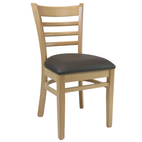 Kit A B Florence Chair Natural Vinyl Seat Choc