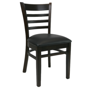 Kit A C Florence Chair Chocolate Vinyl Seat Black