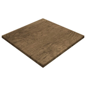 Werzalit By Gentas Square Table Top Rustic Dark Oak