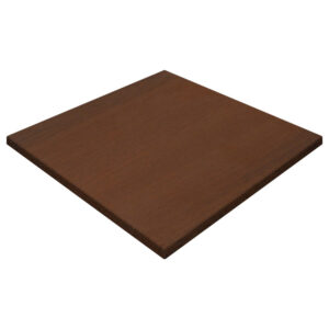 Werzalit By Gentas Square Table Top Walnut