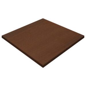 Werzalit By Gentas Square Table Top Walnut