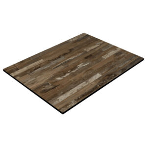 Compact Laminate Table Top - Rustic Blockwood 600x800mm