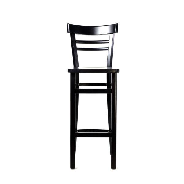 df vienna barstool – chocolate – timber seat x1