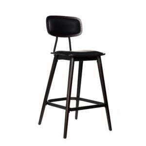 felix barstool – black vinyl seat – chocolate – black frame a8