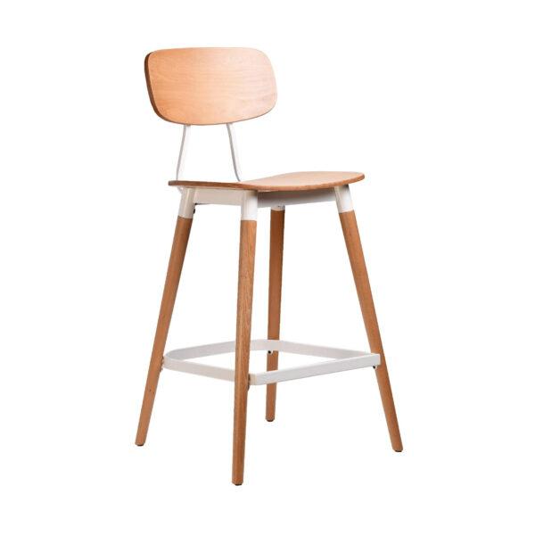 felix barstool – ply seat – natural – white frame p8 2
