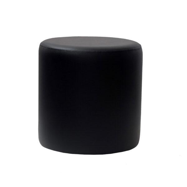 roundottoman black