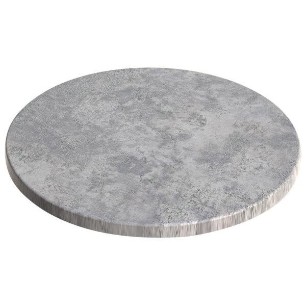 sm france round table top concrete