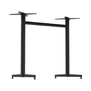 Stockholm Twin Bar Base – Round Pole – Black