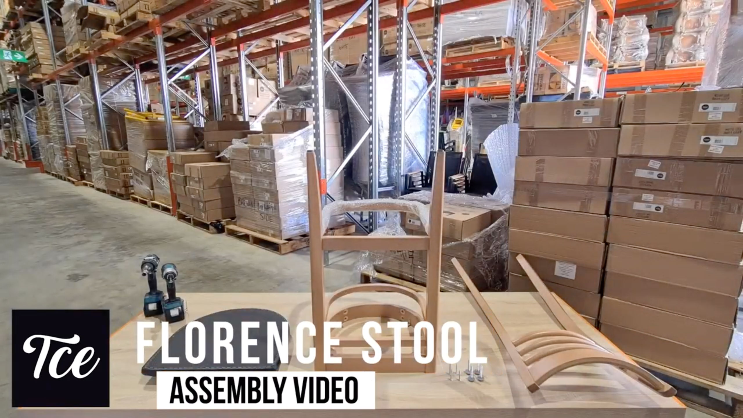 Assembly of the Florence Barstool