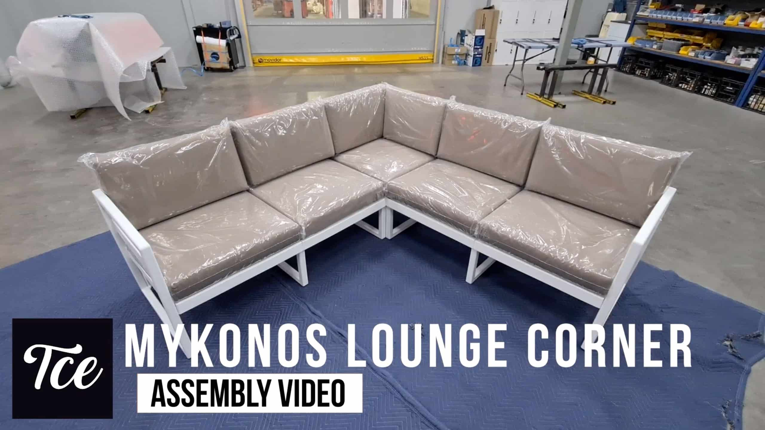 Assembly for the Mykonos Lounge Corner