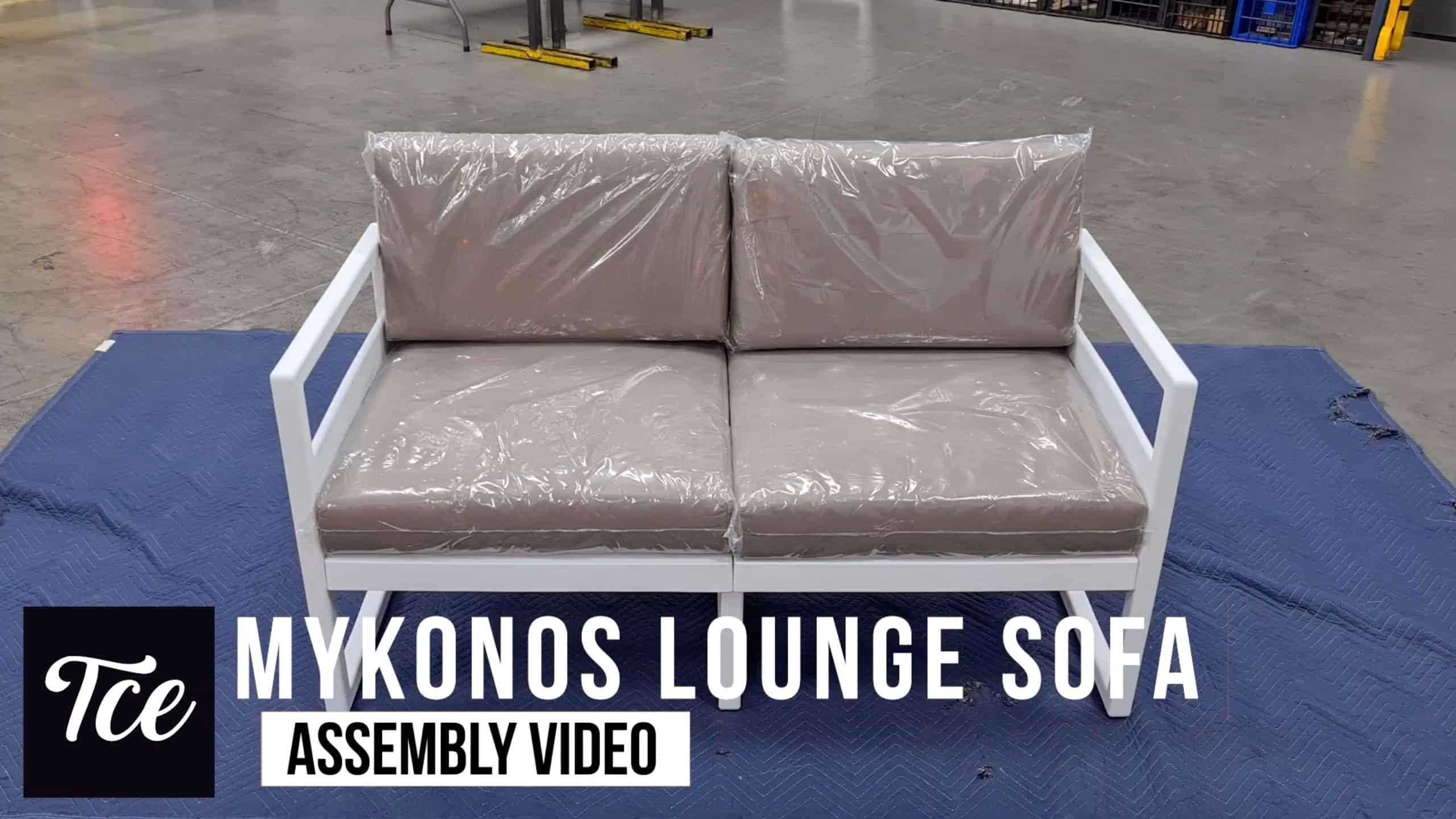 Assembly for the Mykonos Lounge Sofa