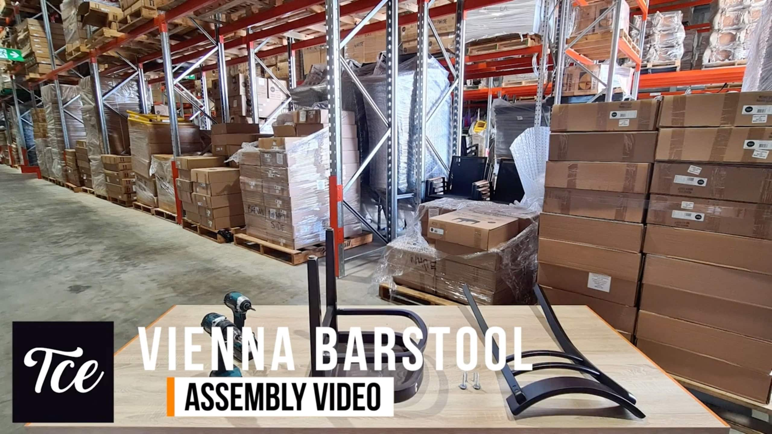 Assembly for the Vienna Barstool